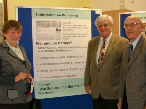 v.L.: Dr. Ebba Lorenzen von der Mainpost und die Herren Heinz Knauth und Manfred Lindner von der Seniorenvertretung